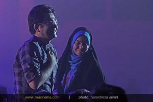 تصویری جدید از آزاده نامداری و فرزاد حسنی در کنسرت فرزاد فرزین