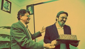 حسین علیزاده و محمدرضا شجریان (برای بزرگنمایی کلیک کنید)