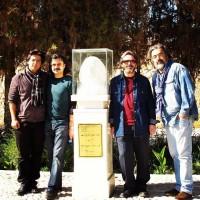علی بوستان، حسین علیزاده، پژمان حدادی و پوریا اخواص / آرامگاه اخوان ثالث - آبان ماه 92 (برای بزرگنمایی تصویر کلیک کنید)