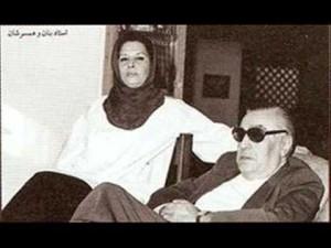 استاد غلامحسین بنان و پری همسر استاد (برای بزرگنمایی تصویر کلیک کنید)