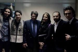 سحر دولت شاهی در کنار استاد شجریان پدر و همایون پسر/ عکس