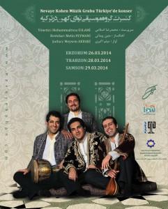 پوستر کنسرت نوای کهن در ترکیه (برای بزرگنمایی تصویر کلیک کنید)