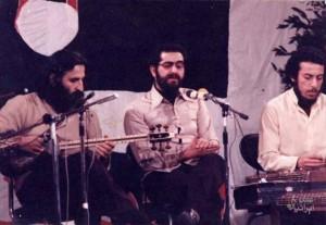 استادان «پشنگ کامکار»، «شهرام ناظری» و زنده یاد «محمدرضا لطفی» (برای بزرگنمایی تصویر کلیک کنید)