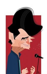 کاریکاتوری جداب از استاد «محمدرضا شجریان» (برای بزرگنمایی تصویر کلیک کنید) - اثری از علیرضا پاکدل