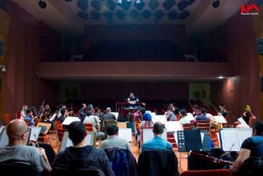 تمرین کنسرت شیپور صلح (برای بزرگنمایی تصویر کلیک کنید)