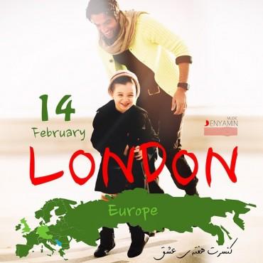 پوستر کنسرت بنیامین در لندن