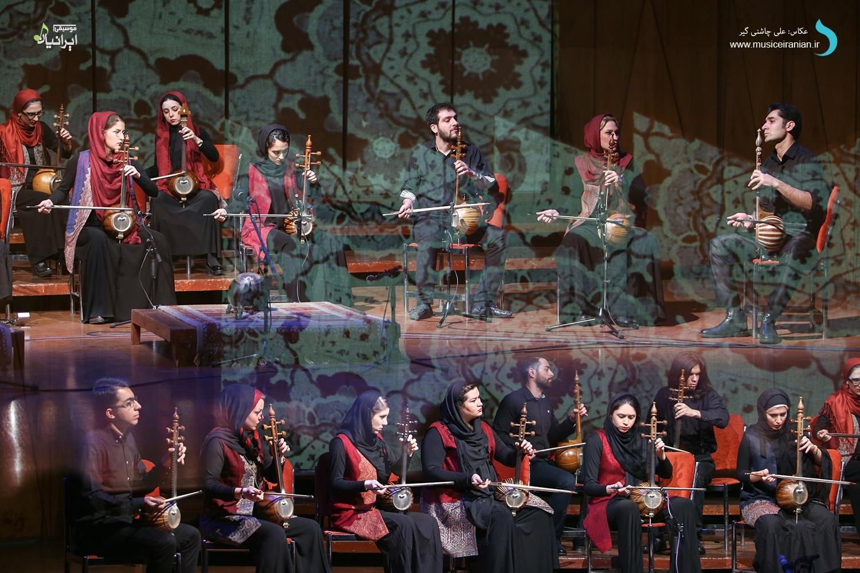 گزارش متنی و تصویری «موسیقی ایرانیان» از کنسرت «گروه کمانچهنوازی نوید دهقان» در جشنواره موسیقی فجر