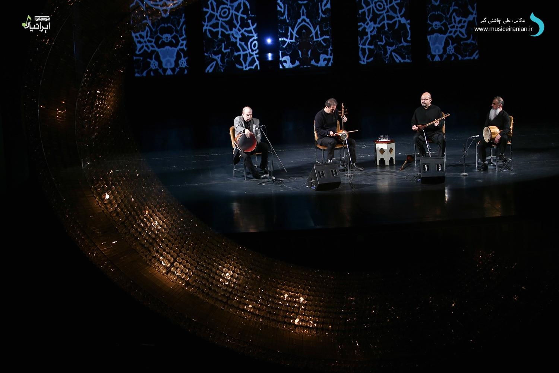 گزارش متنی و تصویری «موسیقی ایرانیان» از کنسرت اردشیر کامکار، بهداد بابایی و کامبیز گنجهای، وحید اسداللهی