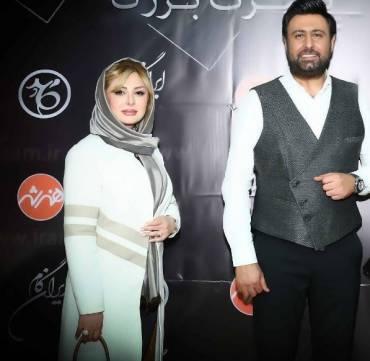 «نیوشا ضیغمی» و همسرش در شب رکورد شکنی «محمد علیزاده» + عکس