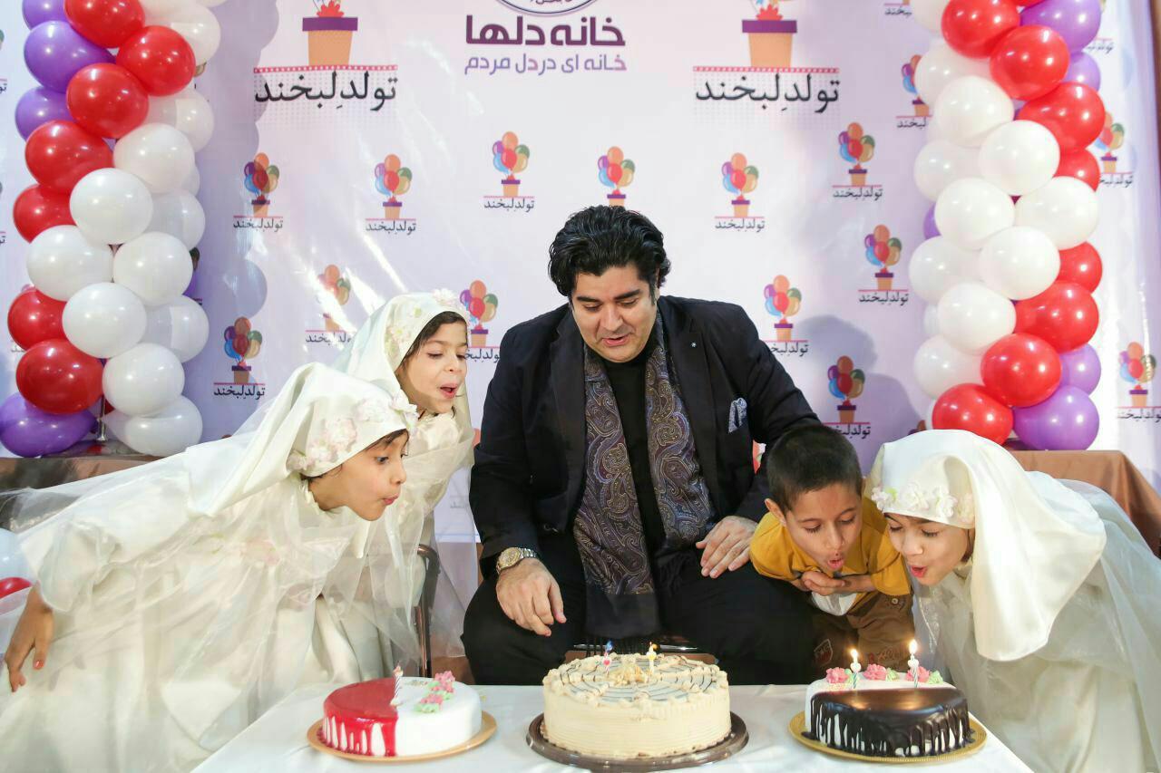 در کنار معلولان آسایشگاه شهید فیاض بخش