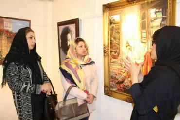 نمایش پرتره مشاهیر موسیقی ایران در نمایشگاه آثار «پرنیان موحدنیا»