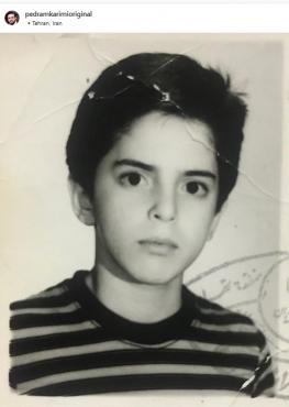 شور و شوق آقای مجری برای رفتن به مدرسه در 9 سالگی /عکس
