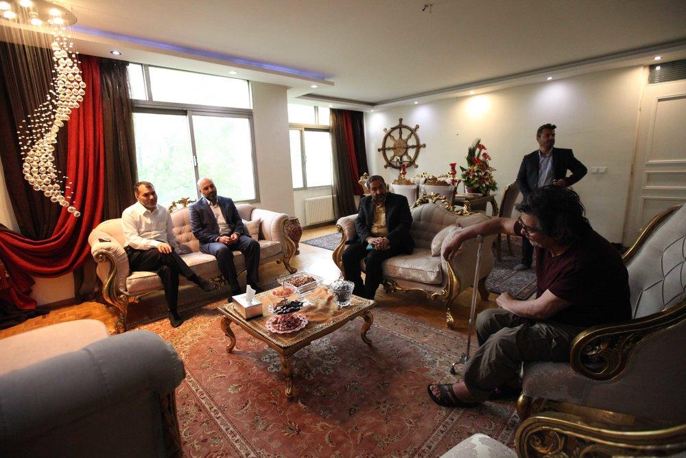 عیادت مدیران تلویزیون از رضا رویگری | عکس