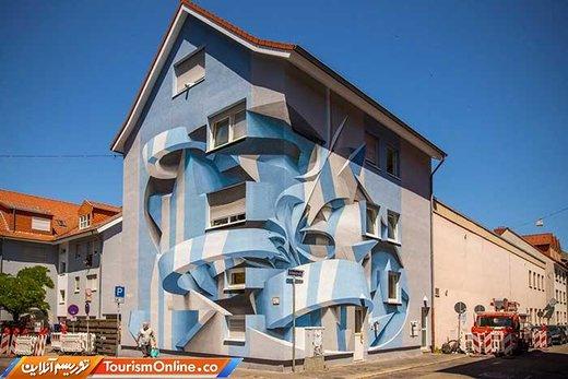 عکس | ساختمانهایی با هنر گرافیکی عجیب!