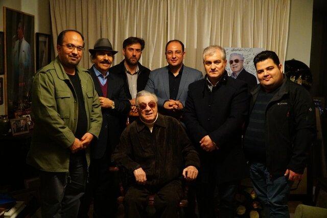دیدار موسسه هنرمندان پیشکسوت با اکبر گلپایگانی