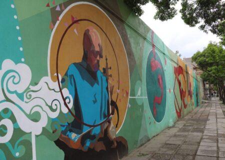 مشاهیر موسیقی سنندج بر دیوارهای شهر