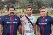 عکس سه نفره بهرنگ علوی با هادی کاظمی و بهنام بانی
