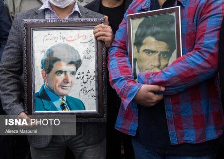 اکران تصاویر استاد شجریان در شهر تهران