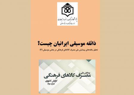 نشست مجازی«ذائقه موسیقی ایرانیان» برگزار می شود