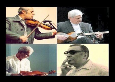 سردیس ۴ نام بزرگ موسیقی ایران در تهران نصب می شود